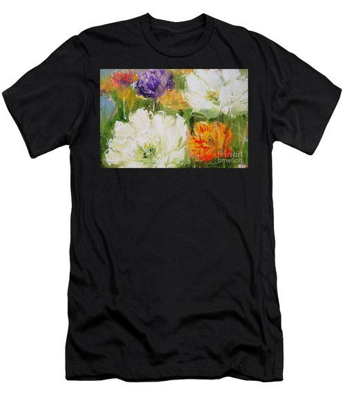 Joy With Tulips Men's T-Shirt (Athletic Fit)
