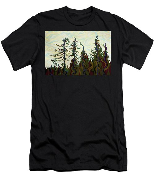 Joyful Pines, Whispering Lines Men's T-Shirt (Athletic Fit)