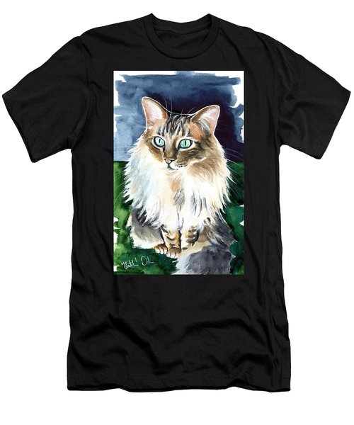 Juju - Cashmere Bengal Cat Painting Men's T-Shirt (Athletic Fit)