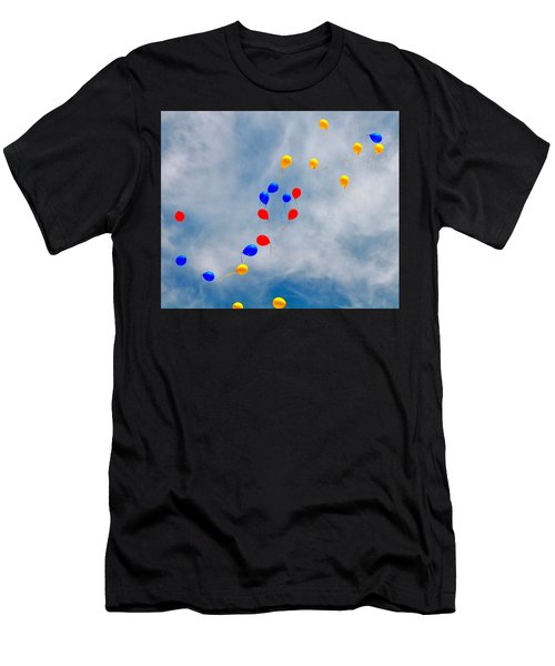 Julian Assange Balloons Men's T-Shirt (Athletic Fit)