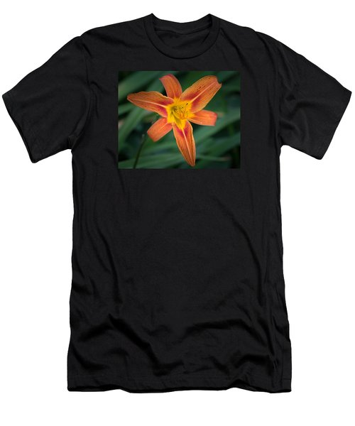July Tiger Lily Men's T-Shirt (Athletic Fit)