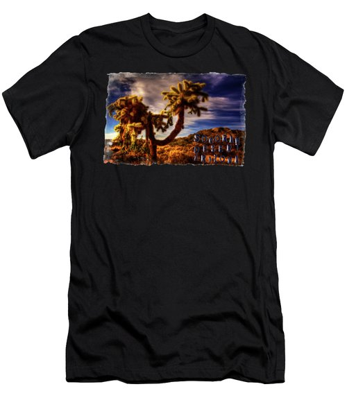 Jumping Cholla Cactus Men's T-Shirt (Athletic Fit)