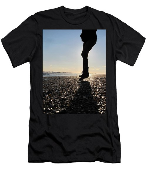 Jumping In The Sand Men's T-Shirt (Athletic Fit)
