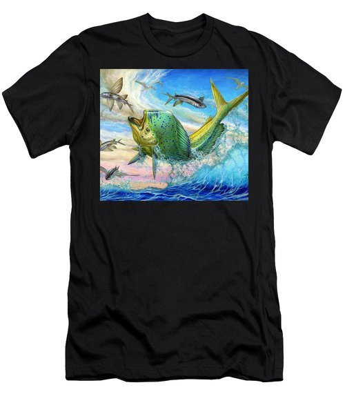 Jumping Mahi Mahi And Flyingfish Men's T-Shirt (Athletic Fit)