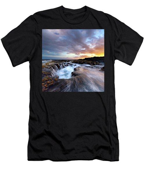 June Blow Hole Sunset Men's T-Shirt (Athletic Fit)
