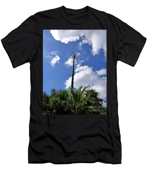 Men's T-Shirt (Athletic Fit) featuring the photograph Jungle Bungee Tower by Francesca Mackenney