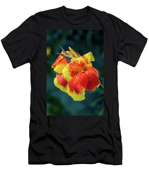 Jungle Flowers Men's T-Shirt (Athletic Fit)