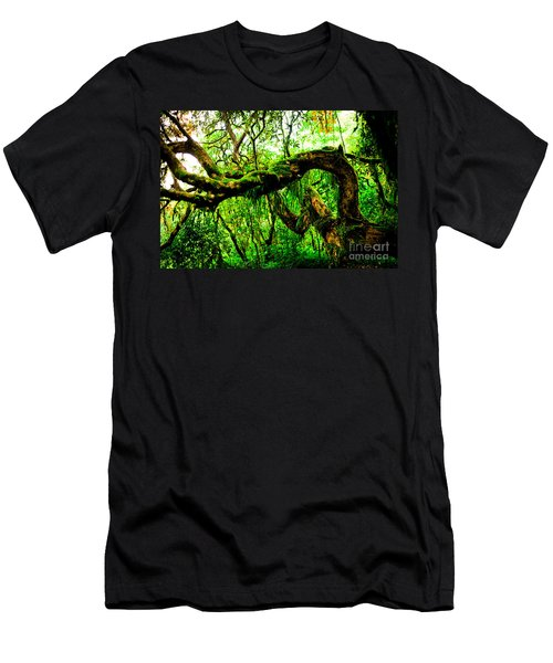 Jungle Forest Himalayas Mountain Nepal Men's T-Shirt (Athletic Fit)