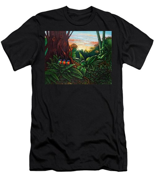 Jungle Harmony 3 Men's T-Shirt (Athletic Fit)
