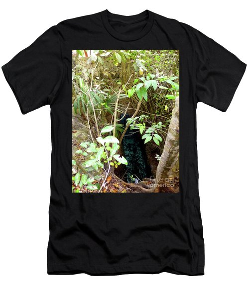 Men's T-Shirt (Athletic Fit) featuring the photograph Jungle Stream by Francesca Mackenney