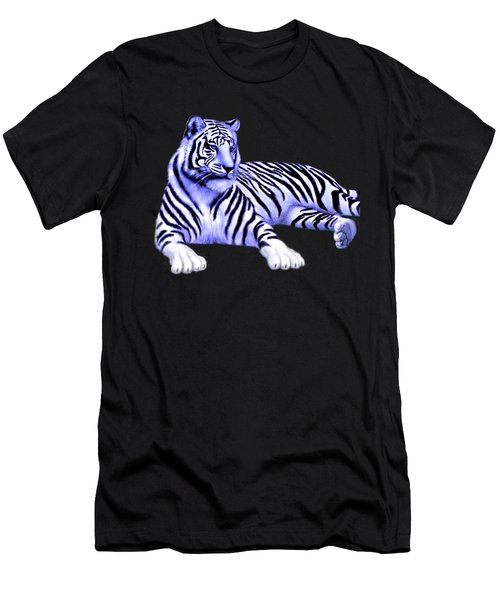 Jungle Tiger Men's T-Shirt (Slim Fit) by Glenn Holbrook