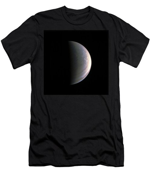Men's T-Shirt (Slim Fit) featuring the photograph Juno Closing In On Jupiter's North Pole by Nasa