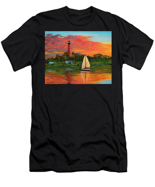 Jupiter Lighthouse Sunrise Alt Men's T-Shirt (Athletic Fit)