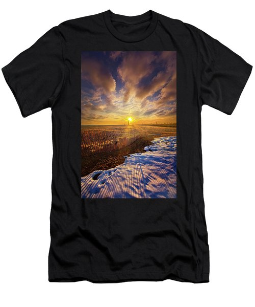 Men's T-Shirt (Slim Fit) featuring the photograph Just A Bit More To Go by Phil Koch