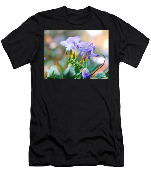 Men's T-Shirt (Athletic Fit) featuring the photograph Just A Freesia by Lance Sheridan-Peel