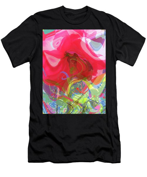 Just A Wild And Crazy Rose - Floral Abstract - Colorful Art Men's T-Shirt (Athletic Fit)