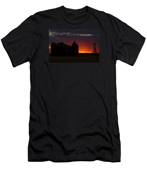 Men's T-Shirt (Slim Fit) featuring the photograph Just Before Sunrise by Clarice  Lakota