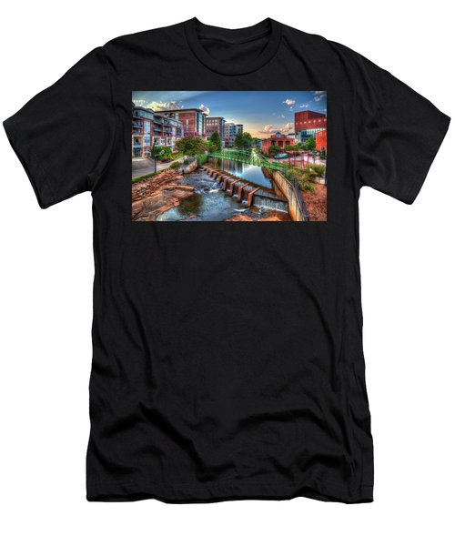 Just Before Sunset 2 Reedy River Falls Park Greenville South Carolina Art Men's T-Shirt (Athletic Fit)