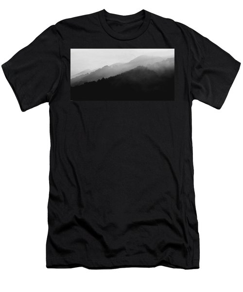 Just Breathe Men's T-Shirt (Slim Fit) by Gray  Artus