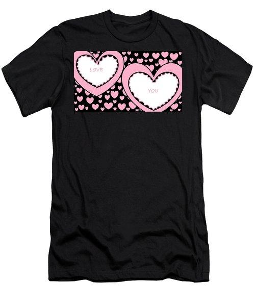 Just Hearts 2 Men's T-Shirt (Slim Fit) by Linda Velasquez