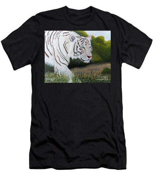 Men's T-Shirt (Athletic Fit) featuring the painting Just Looking by Tracey Goodwin