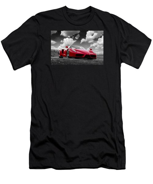 Just Red 1 2002 Enzo Ferrari Men's T-Shirt (Athletic Fit)