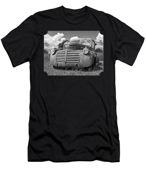 Just Resting - Vintage Gmc Truck Black And White Men's T-Shirt (Athletic Fit)