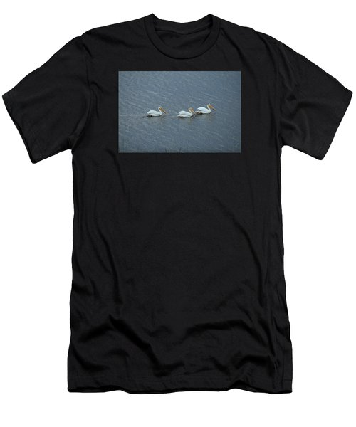 Triple Pelicans Lake John Swa Co Men's T-Shirt (Athletic Fit)