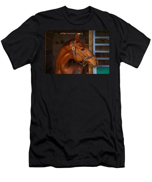 Just Waiting For My Turn To Race Men's T-Shirt (Slim Fit) by Robert L Jackson