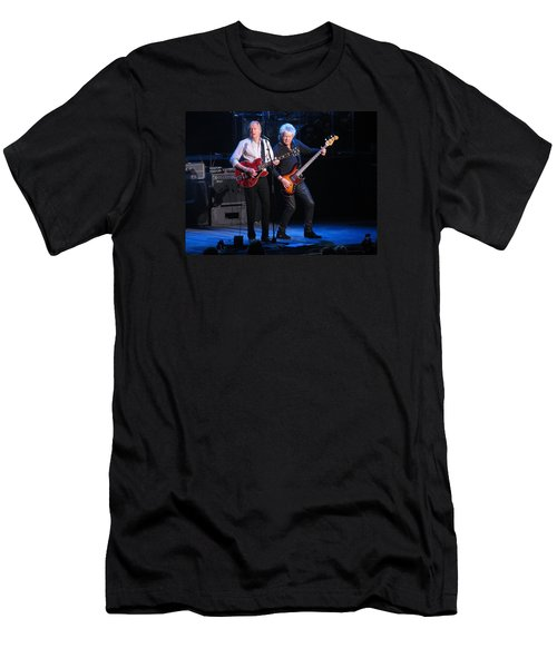 Men's T-Shirt (Slim Fit) featuring the photograph Justin And John In Concert 2 by Melinda Saminski