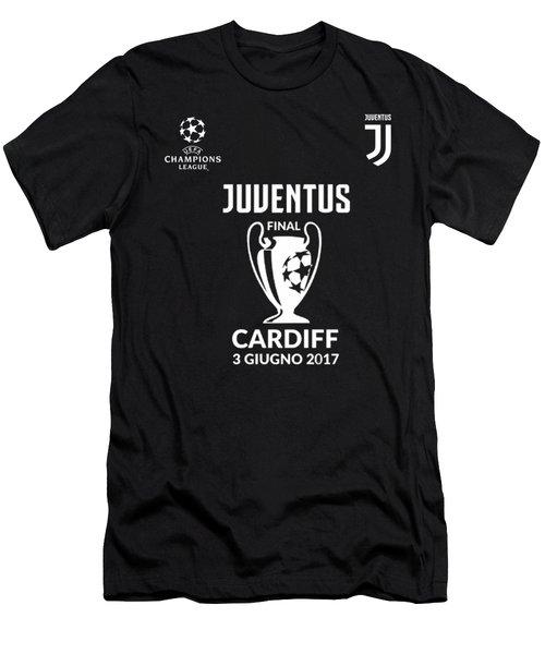 Juventus Final Champions League Cardiff 2017 Men's T-Shirt (Slim Fit) by Ipoy Juki