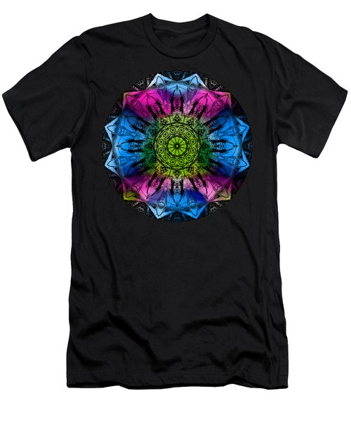 Kaleidoscope - Colorful Men's T-Shirt (Athletic Fit)