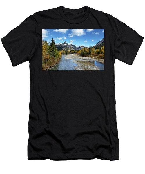 Kananaskis River In Fall Men's T-Shirt (Athletic Fit)