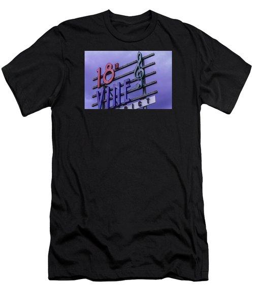 Kansas City 18th And Vine Sign Men's T-Shirt (Athletic Fit)