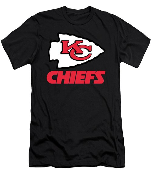 Kansas City Chiefs On An Abraded Steel Texture Men's T-Shirt (Athletic Fit)