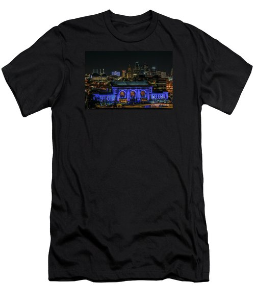 Kansas City In Royal Blue Men's T-Shirt (Athletic Fit)