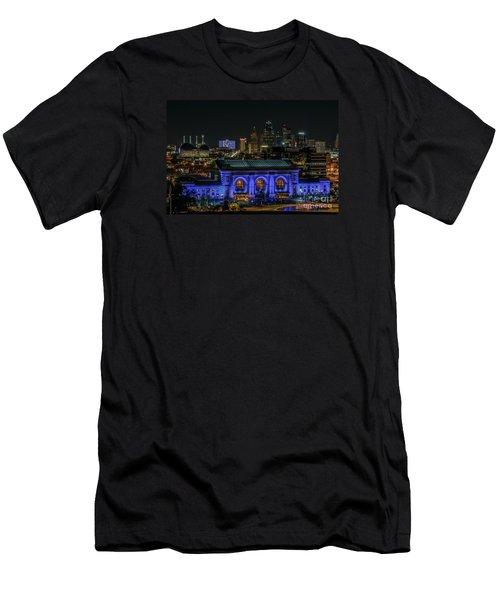 Kansas City In Royal Blue Men's T-Shirt (Athletic Fit)