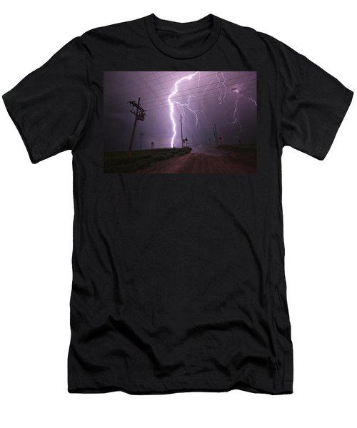 Kansas Lightning Men's T-Shirt (Athletic Fit)