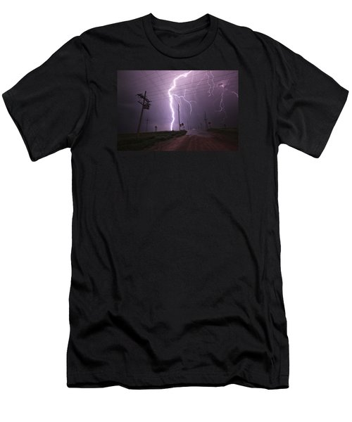 Kansas Lightning Men's T-Shirt (Athletic Fit)