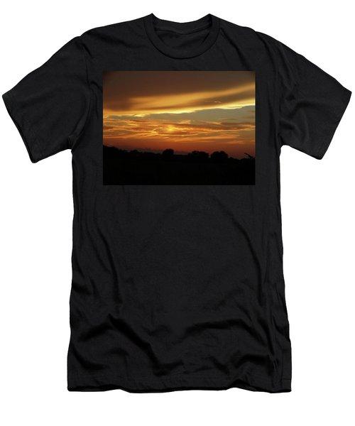 Kansas Summer Sunset Men's T-Shirt (Slim Fit) by Rebecca Overton