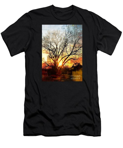 Kansas Sunset Men's T-Shirt (Athletic Fit)