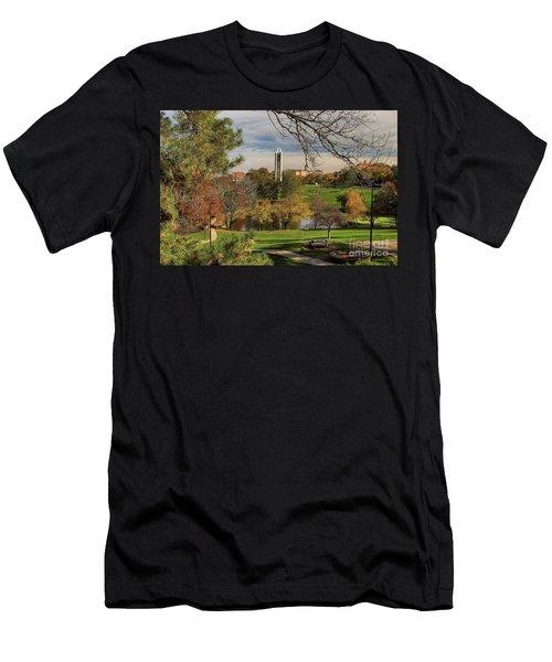 Kansas University Men's T-Shirt (Slim Fit) by Joan Bertucci