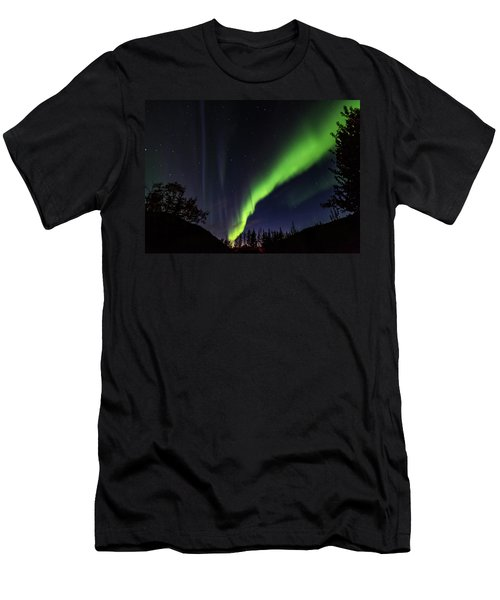 Kantishna Northern Lights In Denali National Park Men's T-Shirt (Athletic Fit)