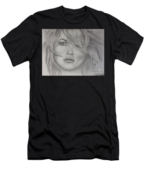 Kate Moss Fashion Model Men's T-Shirt (Athletic Fit)