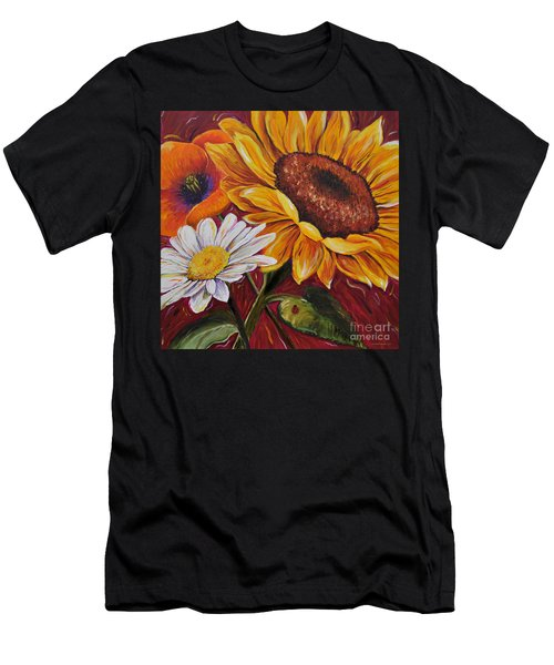 Kathrin's Flowers Men's T-Shirt (Athletic Fit)