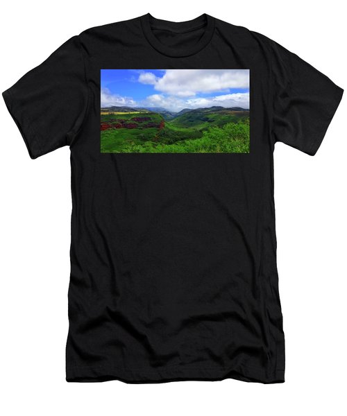 Kauai Mountains Men's T-Shirt (Athletic Fit)