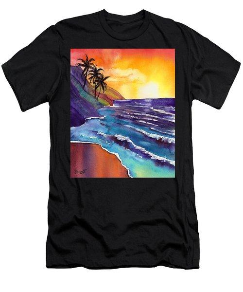 Kauai Na Pali Sunset Men's T-Shirt (Athletic Fit)