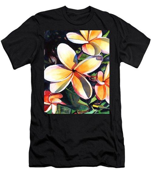 Kauai Rainbow Plumeria Men's T-Shirt (Athletic Fit)