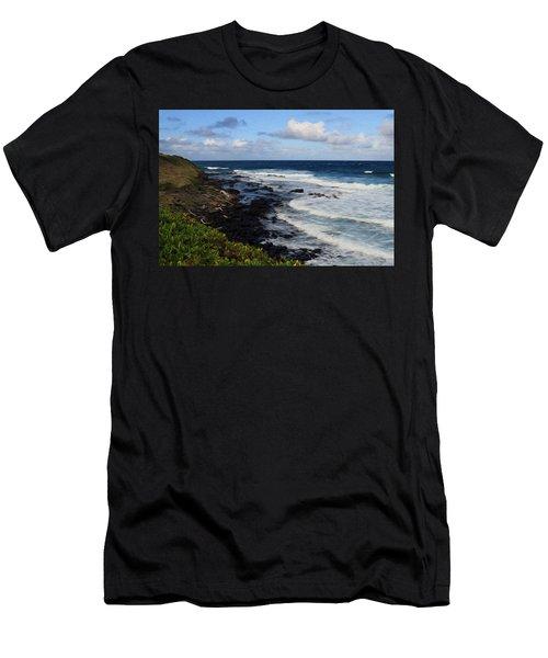 Kauai Shore 1 Men's T-Shirt (Athletic Fit)
