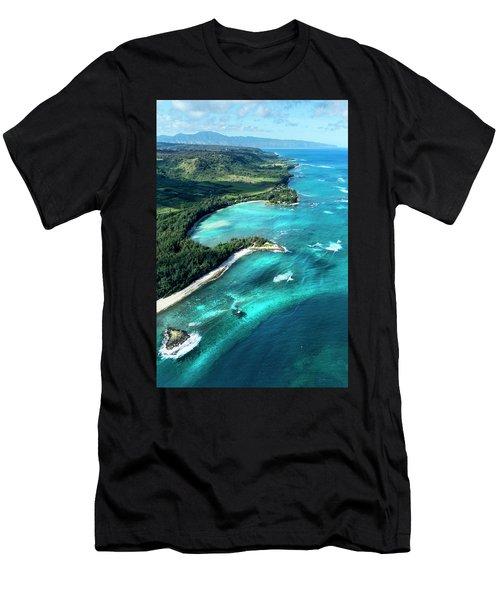 Kawela Bay, Looking West Men's T-Shirt (Athletic Fit)